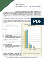 Peace Corps Host Country Impact Study Summary     Burkina Faso