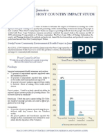 Peace Corps Host Country Impact Study Summary  |  Jamaica