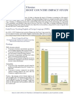 Peace Corps Host Country Impact Study Summary  |  Ukraine