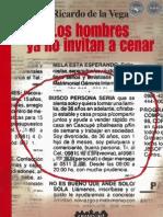 LOS HOMBRES YA NO INVITAN A CENAR - RICARDO DE LA VEGA - PARAGUAY - PortalGuarani