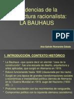 Bauhaus-esquema-tendencias de La Arquitectura Racionalista