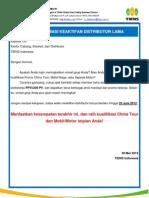 Informasi Keaktifan Distributor Lama