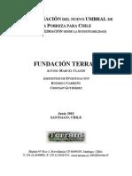 DETERMINACIÓN DEL NUEVO UMBRAL DE La Pobreza para Chile - TERRAM 2002