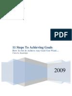 11 Step Goal Setting Free eBook