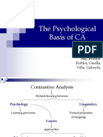 The Psychological Basis of CA