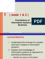 Week 1 2 - Foundation of Information System in Business