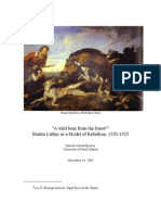 """""""A wild boar from the forest."""" Martin Luther as a Model of Rebellion, 1520-1525"""