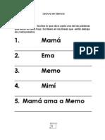 Afirmación de letras