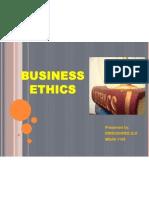 Business Ethics.
