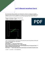 Tutorial Autocad 3 Dimensi Membuat Kursi Furniture