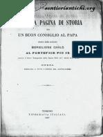 Una tremenda pagina di storia ed un buon consiglio al Papa