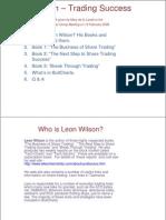 Leon Wilson - Trading Success