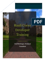 KC Developer Training Final