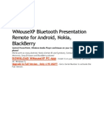 WMouseXP Bluetooth Presentation Remote for Android