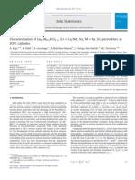 Characterization of Ln0.5M0.5FeO3–δ (Ln=La, Nd, Sm; M=Ba, Sr) perovskites as