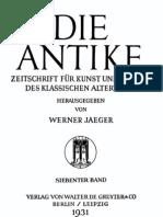 Brecht-Yorck zur Antike