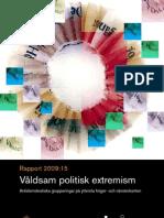 Extremism - Brå - Säporapport