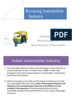 India is a Booming Automobile Industry