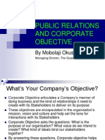 PR and Corporate Objective