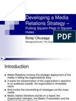 Media Relations Strategy