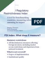 FDI Regulatory Restrctiveness