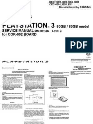 60GB, 80GB PS3 - Service Manual (5th Edition) | Electrical