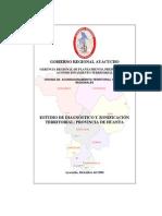Estudio de Diagnostico y Zonificacion Territorial Provincia de Huanta