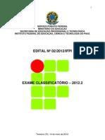 EDITAL- UFPI
