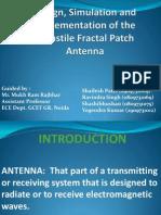 Turnstile Fractal Patch Antenna  Presentation
