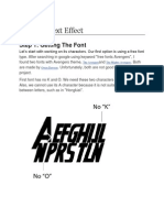 Avenger Text Effect