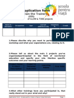 Peace Corps Application formTrain the Trainers(TTT)
