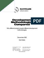 Development Methodolgies Compared