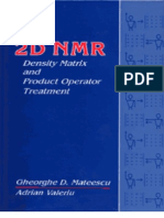 2D NMR Density Matrix and Product Operator Treatment