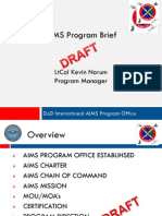 01 AIMS Brief (Lt Col Norum)