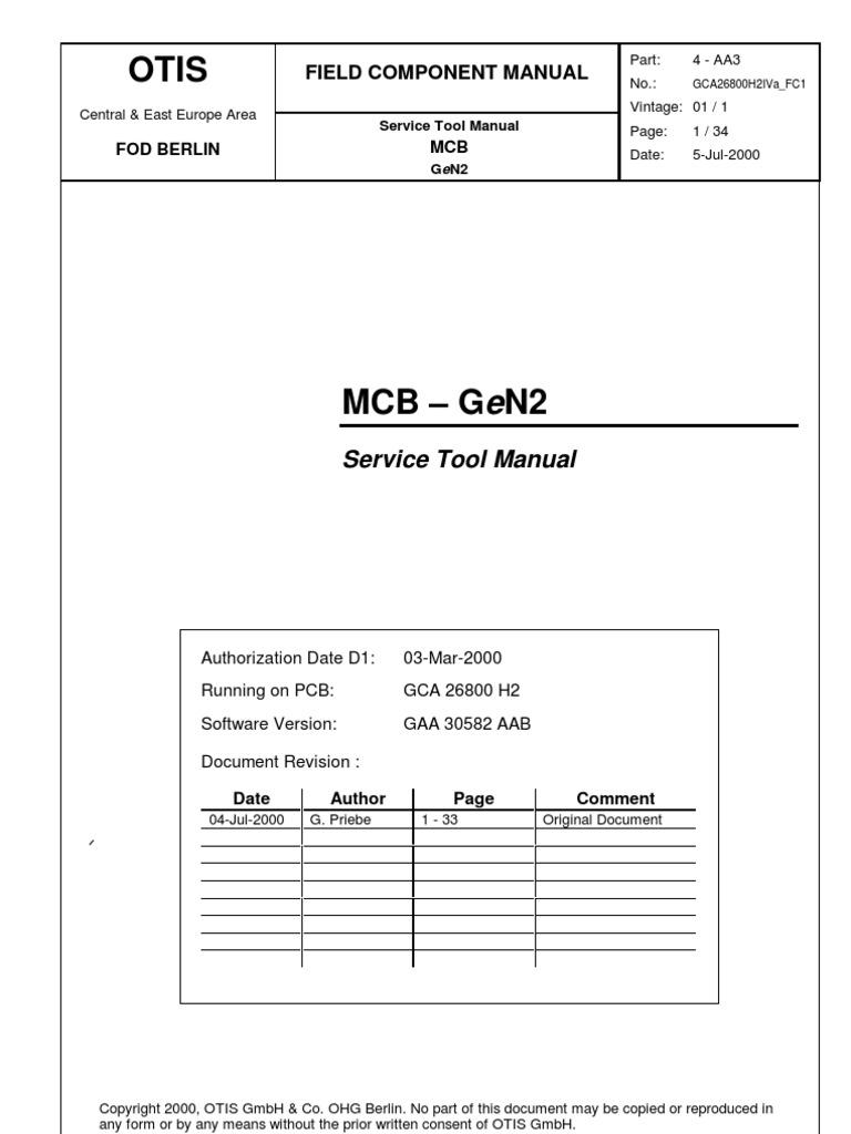 otis gen2 za programming tool power inverter analog to digital rh scribd com otis elevator repair manual Otis Gen2 Elevator