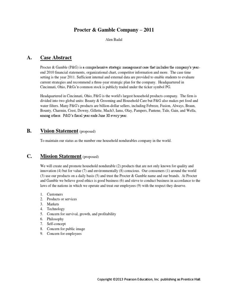 Case Study Example Procter Gamble Cosmetics