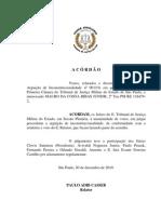 Acórdão da Arguição de Inconstitucionalidade da Resolução SSP 110-10
