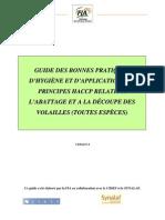 Guide Des Bonnes Pratiques - Abattage - (FIA)