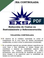 Voladura Controlada - Reducción costos sostenimiento y sobre