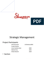 Strategics management formulation of shezan