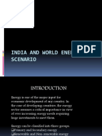 India and World Energy Scenario