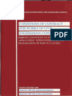 FIDIC (Conditions of Particular Application With Guidelines)