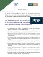 Las ineficiencias de las universidades españolas y las características de las empresas limitan el aprovechamiento del capital humano