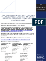 PBS Dependant Application 06/April/2012