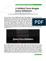 Membuat Validasi Form Dengan JQuery Validation