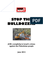 Stop the bulldozers. JCB complicit in Israel's crimes against Palestinian people