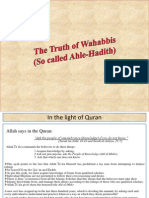 Stupidity of Ignorant Wahabis Najdis Salafis Against Sufis