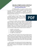 Programa Fortaleza em Paz (Relatório Abril 2009)