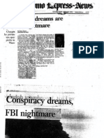Conspiracy Dreams Are an FBI Nightmare - Dick Reavis - San Antonio Express