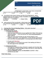 Church Planting - Worksheet #2